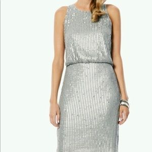 Laundry Silver Sequined Dress